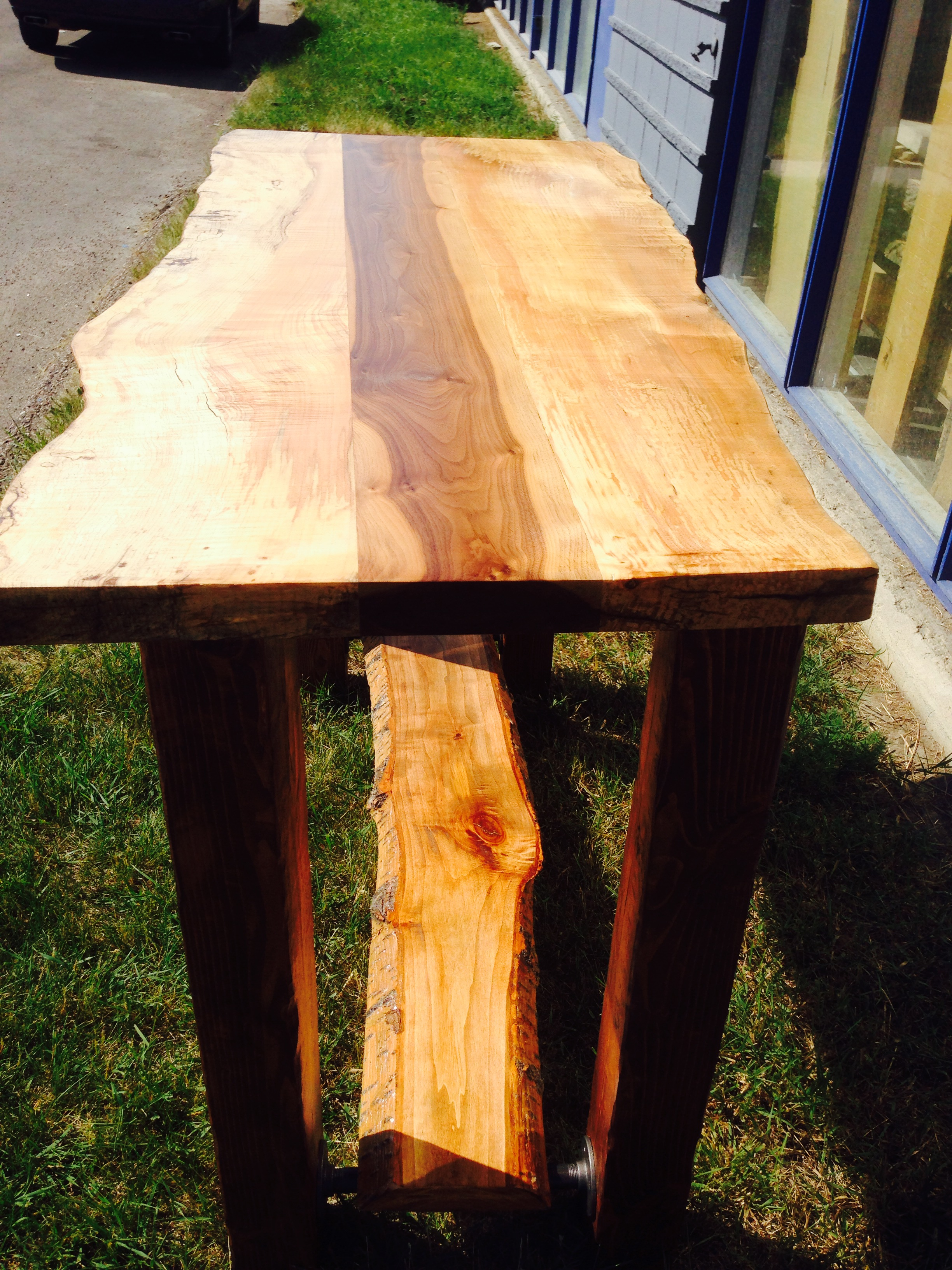 Spalted Maple Walnut Bar Table Refined Rustic Furniture